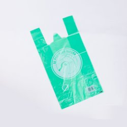 Bolsa Compostable biodegradables Camiseta Bolso Bolso de mano/HDPE LDPE Chaleco Bolsa de plástico PLA Pbat la fécula de maíz Bolsa de compras