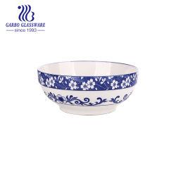 Un nouveau tissu osseux imprimés de haute qualité de la Chine classique de nouilles Bol en porcelaine Vaisselle en céramique et porcelaine aliments Contactez Safe Bol de 7 pouces
