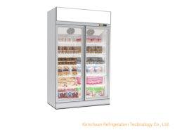 Super marché Étape froide Congélateur d'affichage de l'équipement de réfrigération commerciale de cas