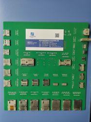 나노 SIM 푸시-푸시 타입 H = 1.35 6p, CD 핀 카드 포함 소켓 커넥터