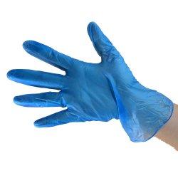 처분할 수 있는 PVC 분말 자유로운 장갑 음식 급료 파란 비닐 장갑