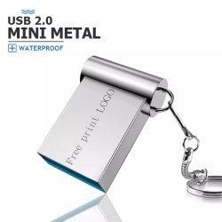 O logotipo personalizado USB criptografados Pen Drive 4 GB 8 GB de 16GB, 32GB, 128g USB2.0, Super Mini-Metal Unidade Flash USB 3.0