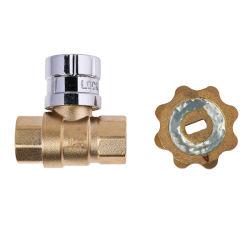 China magnético válvula bloqueable de latón Venta caliente producto China fabricante de la válvula de bola de latón de la válvula de bola de latón cromado
