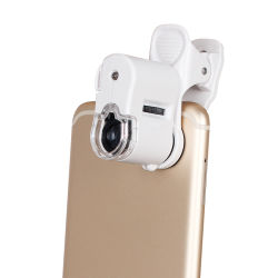 microscopio Pocket dello zoom del telefono 60X mini con l'indicatore luminoso del LED (BM-MG8059)