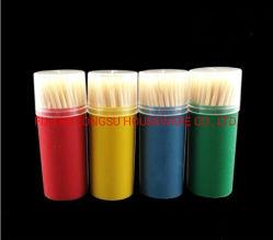 Многоцветные бачок домашних одноразовые бамбук зубочистки