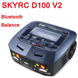 Skyrc D100 V2 Twin-Channel AC/DC equilibrio inteligente Cargador Bluetooth