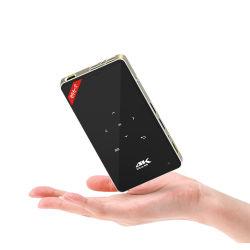 Commerce de gros d'usine S905X 1 Go 8 GB Android 6.0 Smart LED H96-P 4K 3D'un mini projecteur de poche