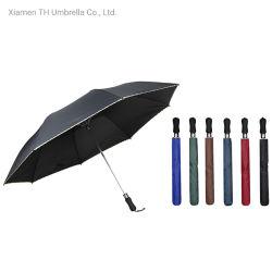 2 A Dobragem Golf Umbrella com EVA pega/Compact Pongées chapéu de tecido com borda Lace impresso