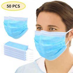 50 [بكس] 3 طي قناع مستهلكة [مووث-موفّل] غبار مضادّة [فس مسك] رجال نساء مضادّة ضباب وجه فم أقنعة [برثبل] فم تغطية