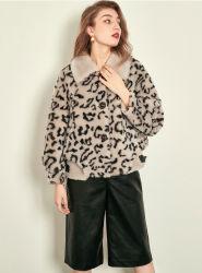 Nouveau modèle Leopard Fashion femmes Manteau de laine Mesdames Manteau court