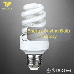 Bollen Van uitstekende kwaliteit van de Lamp van de Spaarder van de Energie van Tricolor van het Type van fabriek de In het groot E27 Halve Spiraalvormige T5 CFL