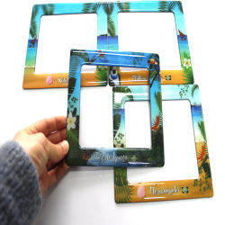 Personalizar Coelho 3D / Borracha de alta qualidade em PVC maleável Moldura Fotográfica magnético de Páscoa