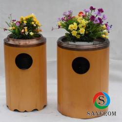 Бамбук корзину для отходов из дерева в мусорное ведро Корзину