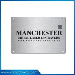 شعار مخصص طباعة الحرير علامة ملصقة فضية علامة أكسدة حلزونية لوحة ألومنيوم