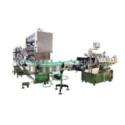 자동 액체 붙여넣기 주입 밀봉 캡핑 라벨 인쇄 처리 기계