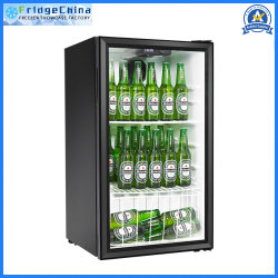 98L縦の表示ドアのスリラー冷却装置飲料の小型ショーケース