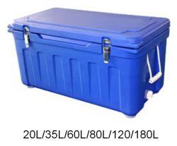 Moldado do rotor para armazenamento de alimentos no exterior da caixa do resfriador passiva