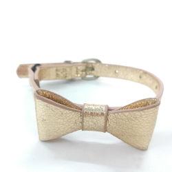 2019 Design de luxe de l'or PU Cat le filtre Bow Tie Collier avec collier de chat de bonne qualité