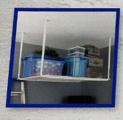 """Hochleistungshauptdach-Speicher-Metalldecken-hängende Fach-Zahnstange des garage-Wand-Regal-Systems-45 """" obenliegende mit DrahtDecking"""