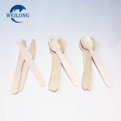 La horquilla de madera desechable Venta caliente Juego de Cuchillos cuchara