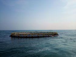 HDPE offshore en aguas profundas de jaulas flotantes piscifactoría