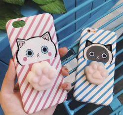 iPhone6 /6s /7/7sのための熱い販売の携帯電話の箱か新しくかわいいCatoon 3D動物反圧力携帯電話袋