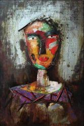 Dimensione del ferro 3D della donna del ritratto di arte della parete della pittura a olio della decorazione del metallo
