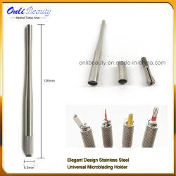Das neuester eleganter Entwurfs-Edelstahl-Universalhalter Microblading Griff-Hilfsmittel