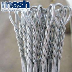 Galvanizados médios quente loop único fio de ligação do Fardo