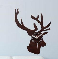 | Дизайн в стиле ретро DIY Настенные часы Reative животных из дерева цвета Настенные часы