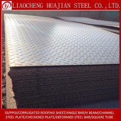 Commerce de gros carbone doux Q345b plaque en acier à damiers Tear Drop