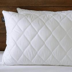Acolchado alternativa blanca abajo las almohadas con cubierta de algodón egipcio de 100%