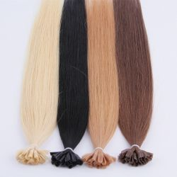 """8""""-30"""" La kératine Nail Tip Hair Extensions Best-Quality-Virgin-Remy-Human-Hair-Factory-Wholesale-Price-Black-Brown-Blond-Wavy-Curly-Long-Hair Straight-Short-"""