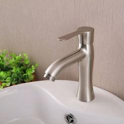 シングルレベルの耐久の蛇口の冷水のクロムによってめっきされる洗面器のミキサー