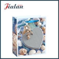 حقيبة هدايا من ورق التسوق بالجملة ذات التصميم الحجري الذي يتخذ شكل قلب 4C