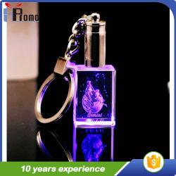 LEDライトとの水晶Keychain