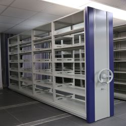 Stockage des archives de rayonnages mobiles personnalisées