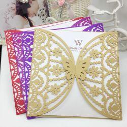 Creusés Cut Invitation de mariage carte 3D papillon modèle sculpté Festival de l'enveloppe Carte de voeux souhaite partie Décoration bricolage