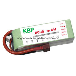11,1V 8000mAh 25c Lipo RC Bateria para RC Car
