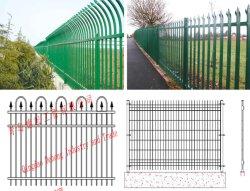 Clôtures en fer, de clôtures en fer métallique de gros, de clôtures de jardin en acier