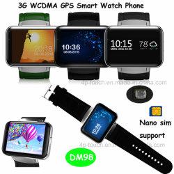 人間の特徴をもつシステム多重正確な位置の移動式腕時計の電話(DM98)