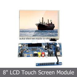 """Monitor LCD de 8"""" SKD Module com retroiluminação LED/HDMI/VGA/AV INPUT"""