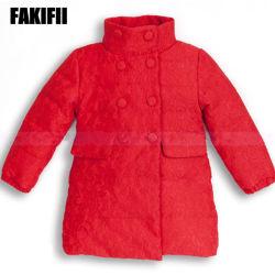 中国の工場方法子供の服装は衣類の冬の女の子の赤いアヒルのジャケットの卸し売り衣服をからかう