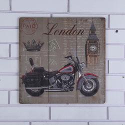 Populäre hölzerne hängende Vorstand-Farbanstriche mit Motorrad-Entwurf