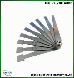 IEC60065 o aço inoxidável CK1, CK2 Sais Distância Cartão de teste