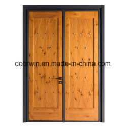 Knotty Alder porte d'entrée du bois