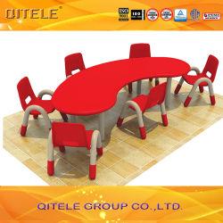 Детей мебель пластиковых игрушек Стол письменный стол и стул для школы (ПСИ-019)