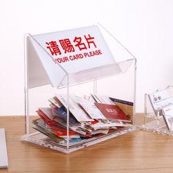 Caixa de Coleta de acrílico de cristal para a exposição Cartão de visitas