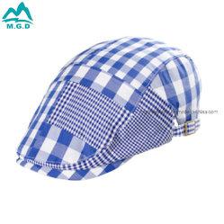 100%년 면 아이는 Cabby 격자 무늬 오리너구리 편평한 공백 신문 배달원 담쟁이 모자 모자를 검사했다