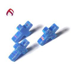Encanto Opal sintético de alta qualidade Cruz Incêndio azul para joalharia